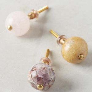 New In Box Anthropologie Amethyst Gemma Knob